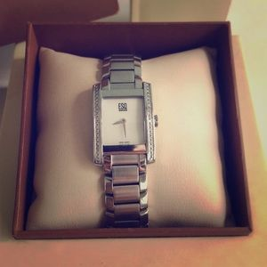 MOVADO Diamond Accented Stainless Steel Watch
